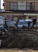家前の廃車群
