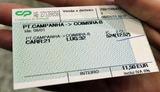 コインブラ行きチケット