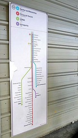 ポルト地下鉄系統図