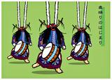 鹿踊りのはじまりイラスト