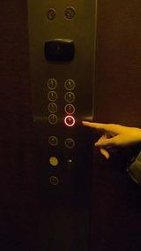 ホテルエレベーターの階数表示