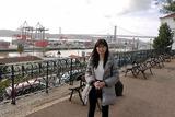 古美術館前から4月25日橋を望む