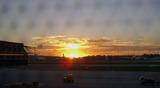 リスボン空港の夕景