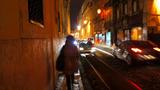 バイロアルトの狭い歩道