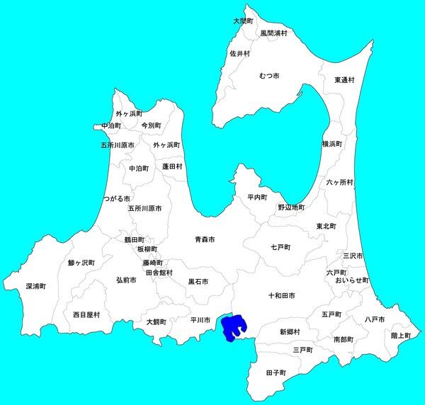 青森県-地方行政区分-地図