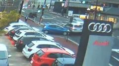 暴走の瞬間映像23歳女逮捕 「目がうつろ」次々と車に衝突 島根
