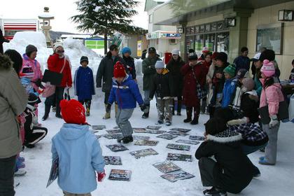 雪上カルタ大会1