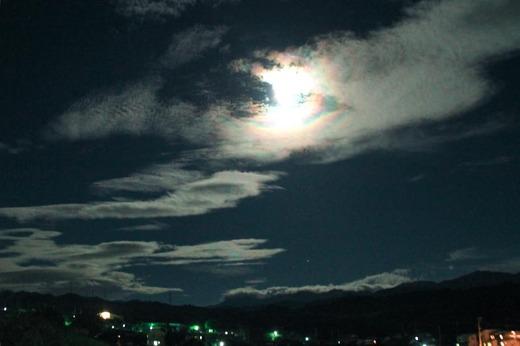 夜の雲4 こんなに雲の綺麗な夜も珍しいかも・・・刻々と変わる雲の様子に見惚れて・・...  li