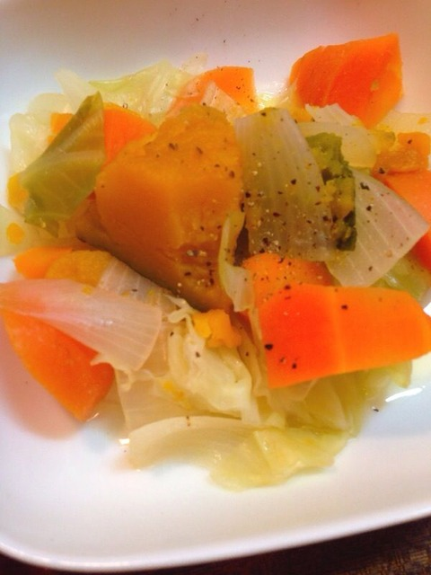 野菜スープの野菜