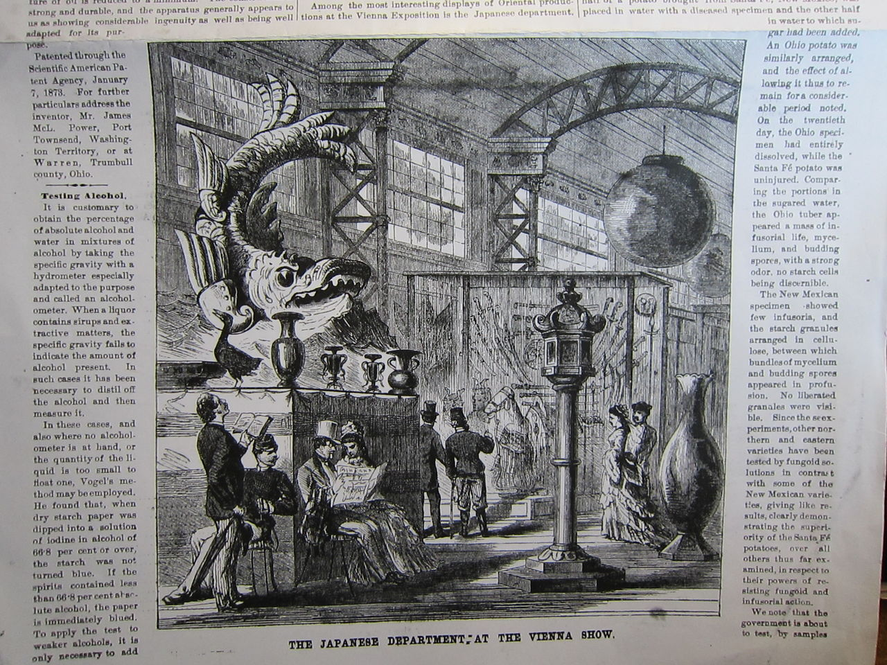 1873年 アメリカの雑誌より ウィーン万博 日本展示品の一部 : 近代輸出 ...
