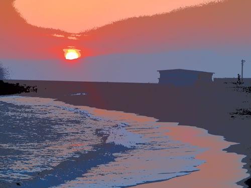 20141231茅ヶ崎夕陽Art-26-5
