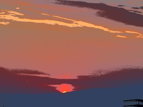 20141231茅ヶ崎夕陽Art-37-6