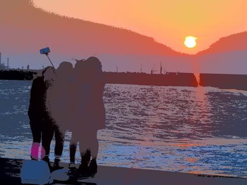 20141231茅ヶ崎夕陽Art-15-3