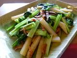 4/26 小松菜とじゃがいものガーリック炒め