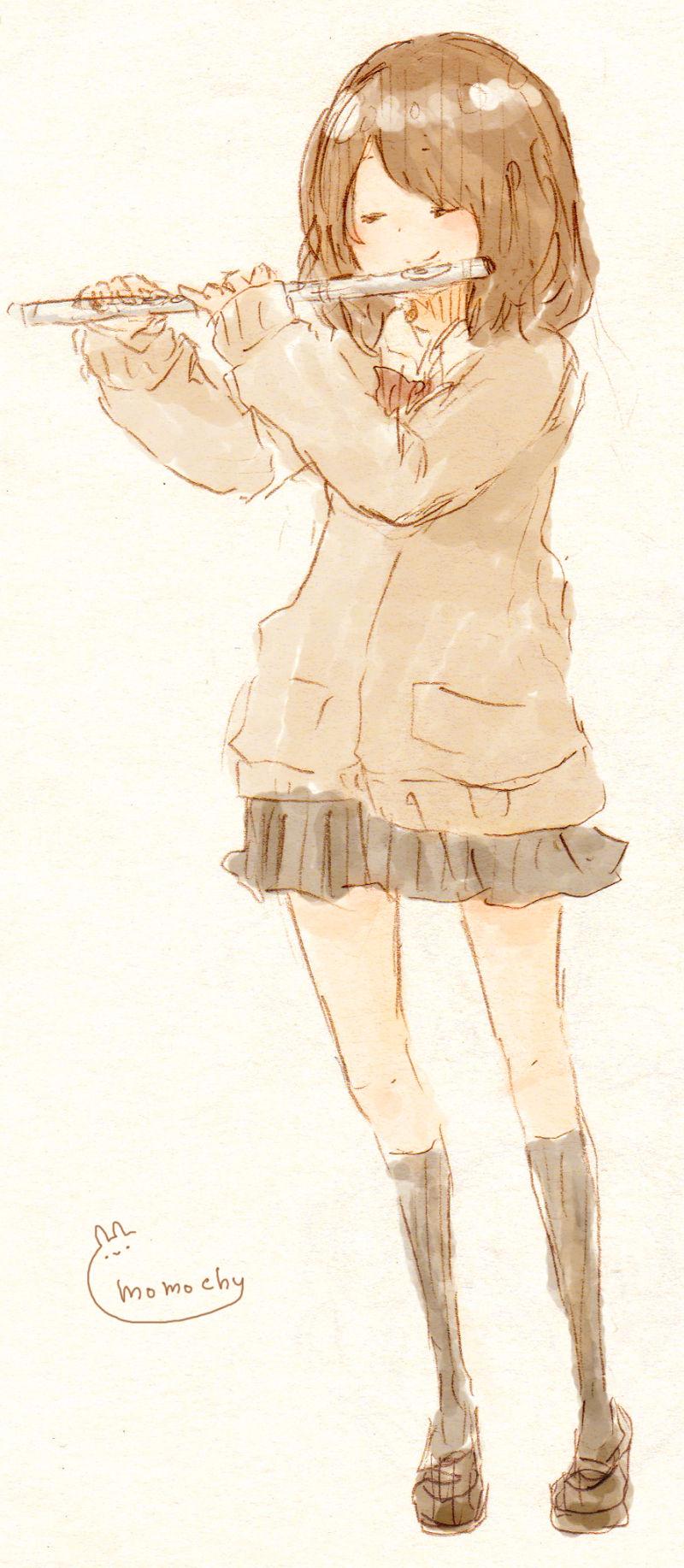 フルートっ子 : イラストレーター momochy オフィシャルブログ | 桃の