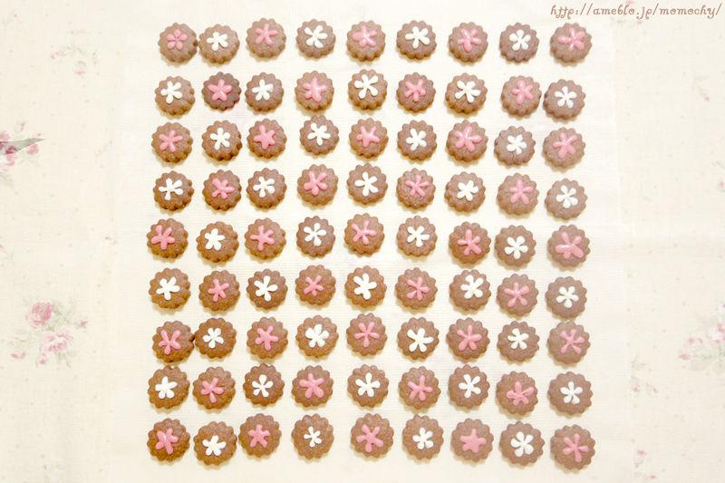お花のバレンタインクッキー*