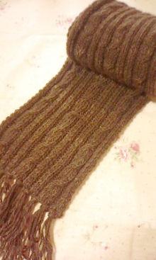 手編みマフラー編み図付き!