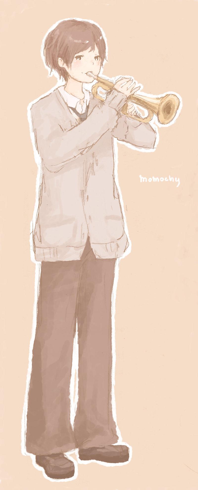 トランペットな男の子*おへんじ : イラストレーター momochy