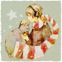 猫と男の子*