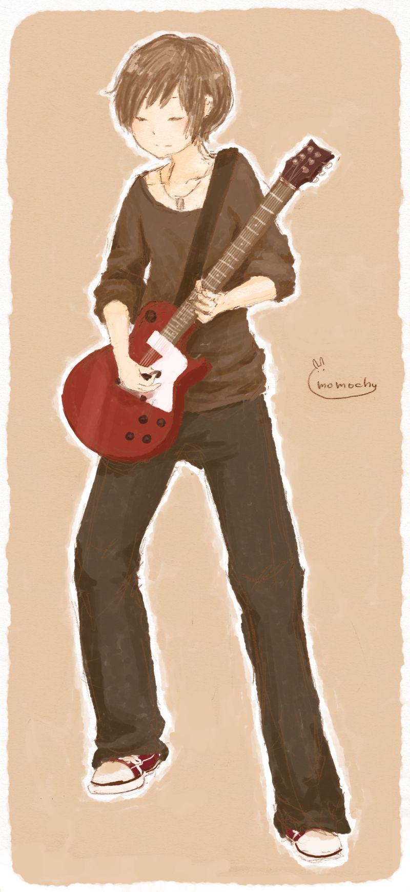 いらすと*ギター弾いてるギターくん