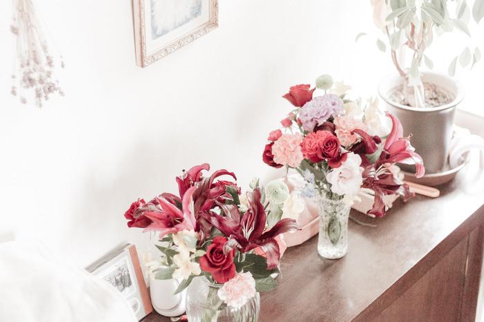 玄関先のお花