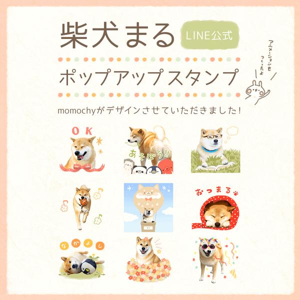 柴犬まるちゃんのスタンプ〜!❁