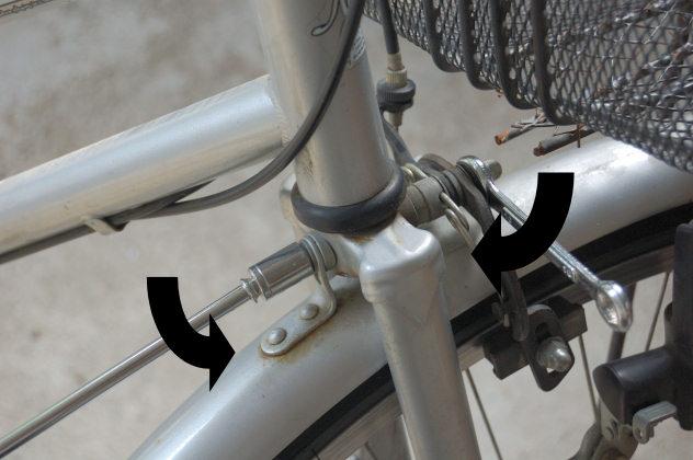 自転車 後ろ ブレーキ 調整