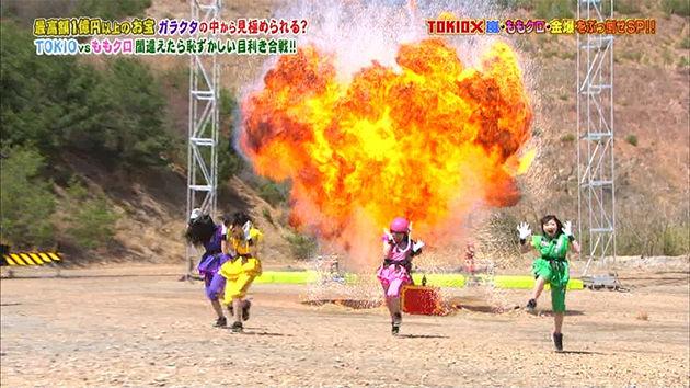 ももクロ TOKIOカケルで大爆破