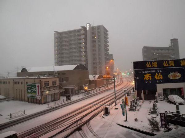 12月の雪
