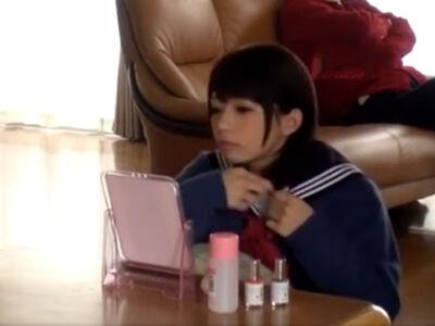 【麻里梨夏】可愛すぎる女子高生の妹に中出しする兄の友達