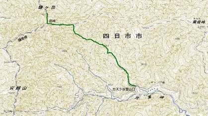 鎌ガ岳MAP