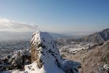 謙信の物見岩から長野市を望む