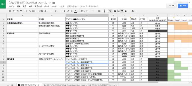 【ブログ共有用】タスクリストフォーム