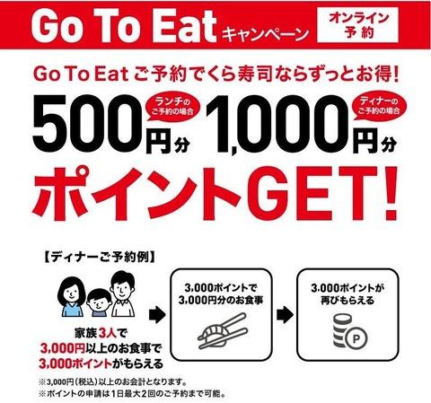 【悲報】くら寿司、1000円以上食うと1000ポイント貰える永久機関を完成させる