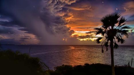 140107ドミニカの夕陽@ドミニカ共和国 カバレテ