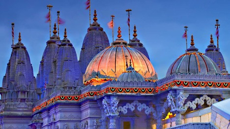 131103スワミナラヤン・マンディール寺院@イギリス ロンドン