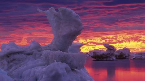 140206ハドソン湾の氷@カナダ マニトバ州