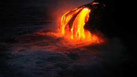 131120キラウエア火山の溶岩@ハワイ カラパナ
