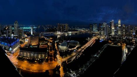 141017マリーナ・ベイの夜景@シンガポール