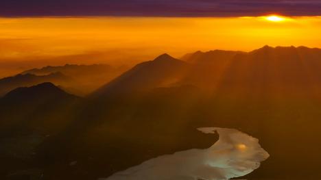 140622山中湖の朝日@山梨 富士山