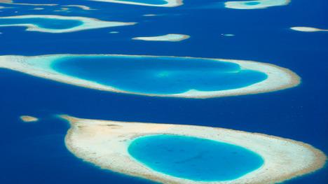 140831モルディブの環礁@モルディブ