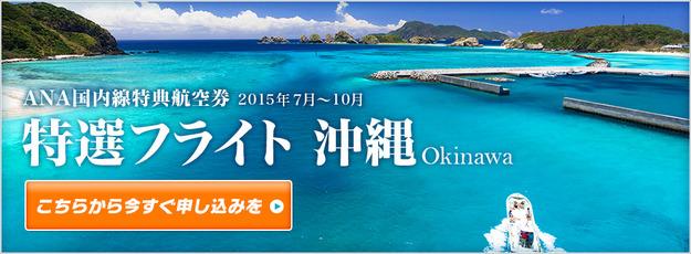 特選フライト沖縄@ANAマイルの貯め方