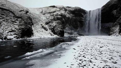 130131スコゥガフォス滝@アイスランド