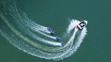 130811アビー湖のボート@イギリス サリー州