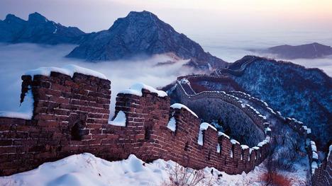 131214雪の万里の長城@中国 北京