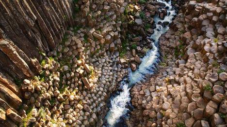 140215玄武岩のプリズム@メキシコ イダルゴ州