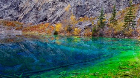 141124グラッシー湖@カナダ アルバータ州