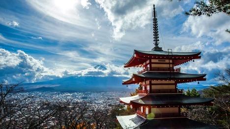 131119忠霊塔と富士山@山梨県 富士吉田市