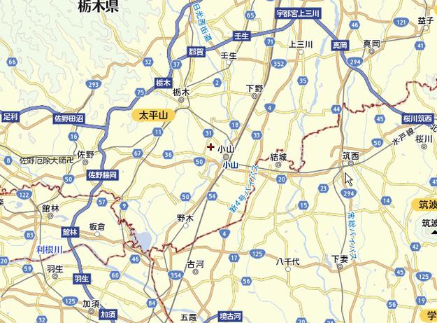 小山市周辺図
