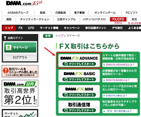 DMMFX03FX取引開始